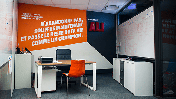 Design d'un bureau fermé dans notre espace de coworking Entrepreneurial People Lyon 7
